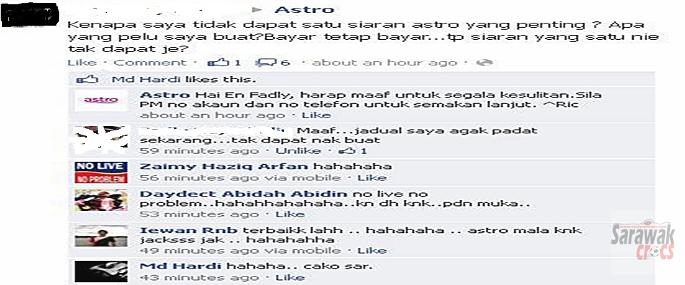 Troll on Astro continues, Astro block several users