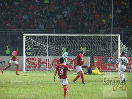 In it goes.. Muamer's first goal.